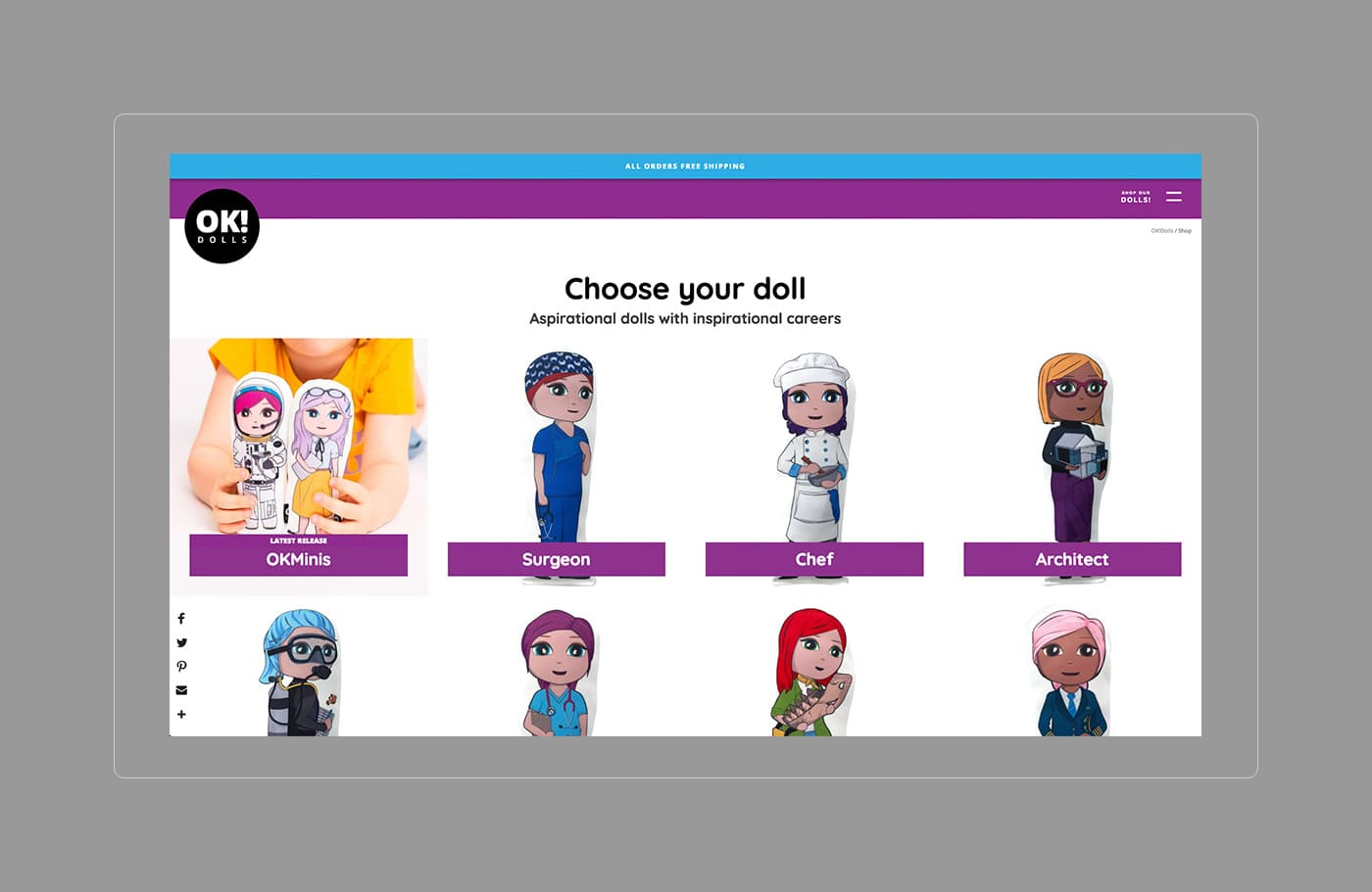 OK!Dolls Shop Page