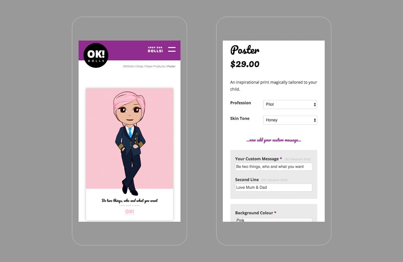 Custom Posters - mobile - OK!Dolls