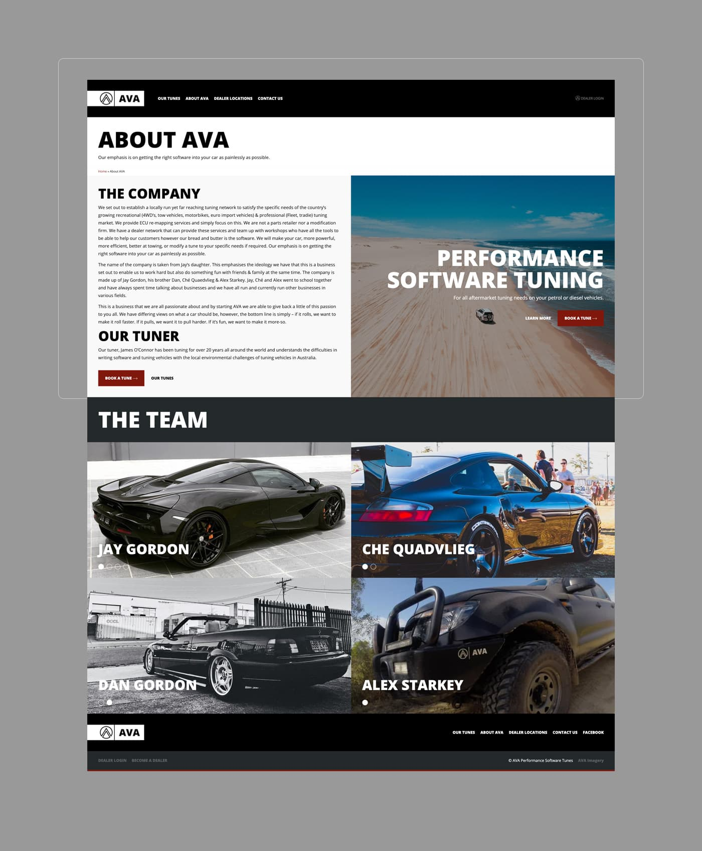 AVA Performance Software Tuning - About AVA