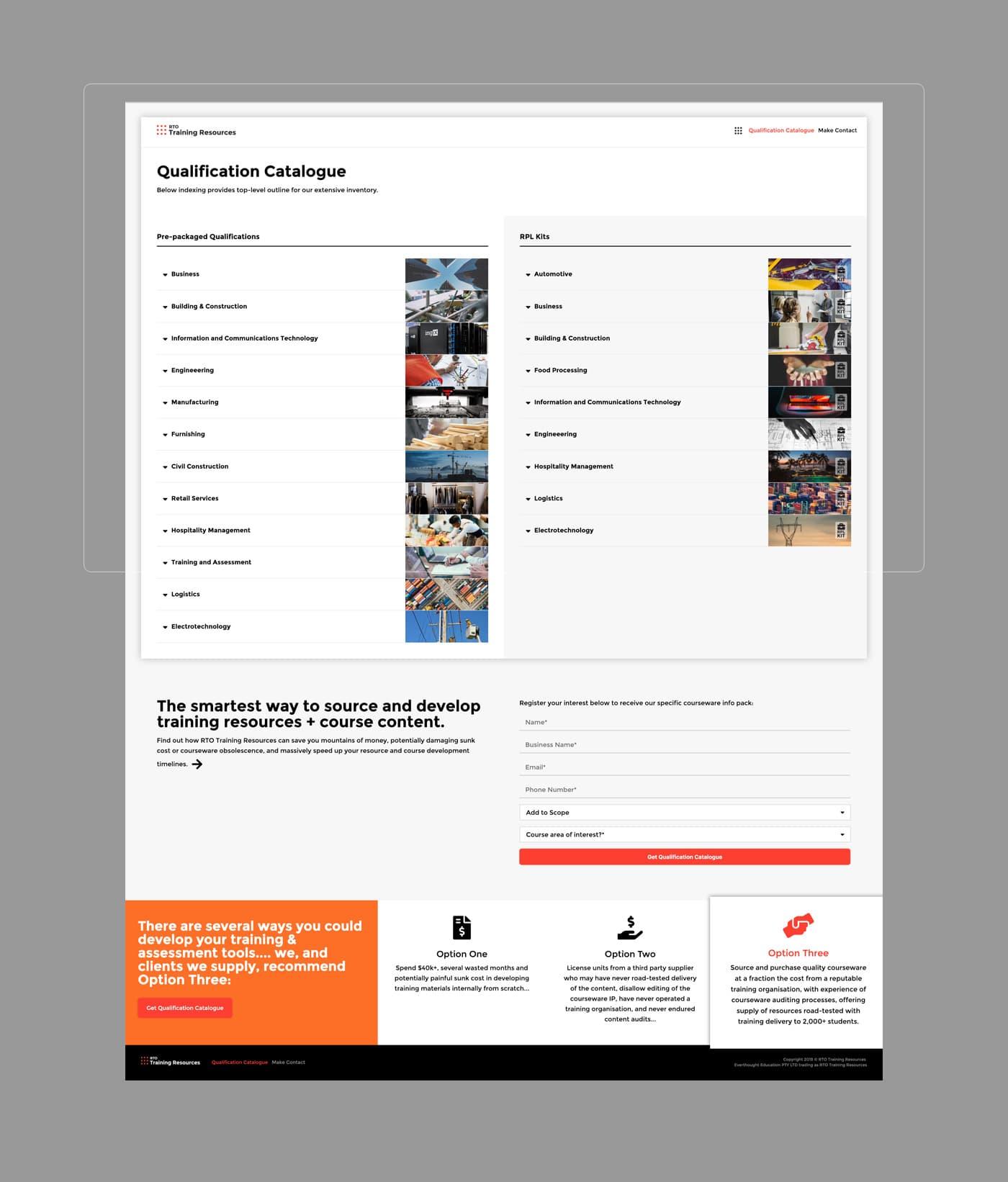 RTO Training Resources - Desktop - Catalogue