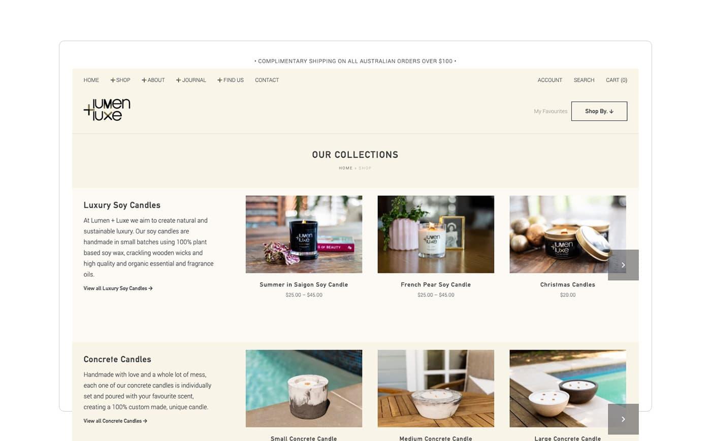 Lumen + Luxe Catalogue